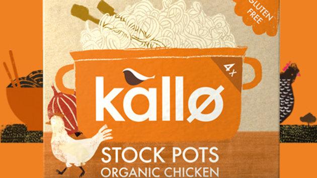 Kallo Organic Chicken Stock Pots (x4)