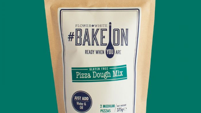 Flower and White Bake on Gluten Free Pizza Dough Mix