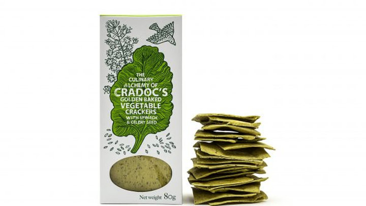 Cradoc's Spinach and Celery Seed Savoury Biscuits