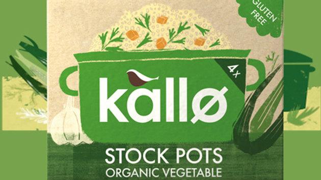 Kallo Vegetable Stock Pots(x4)