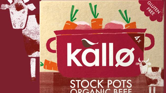 Kallo Organic Stock Pots x4 Beef