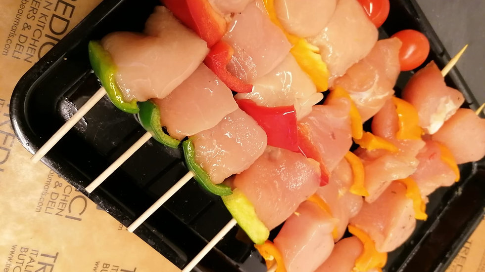 Chicken and Vegetable Kebabs (each)