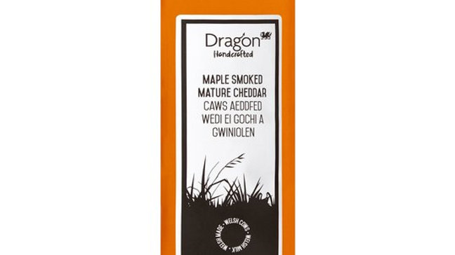 Dragon Welsh Maple Smoked Mature Cheddar