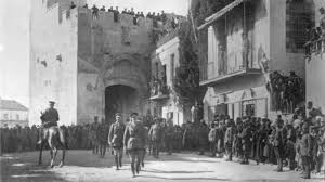 General Allenby enters Jerusalem, November 1917