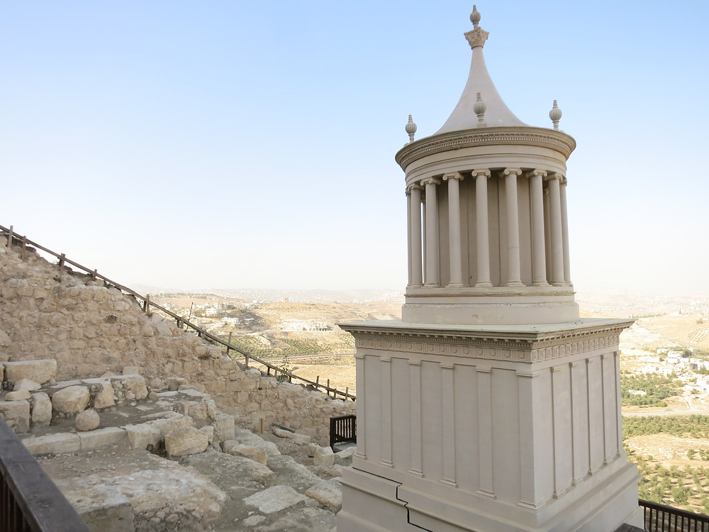 1/3 scale model of the monument at Herod's burial site
