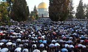 Muslim Prayer on Temple Mount