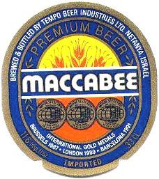 Maccabee Beer Lable