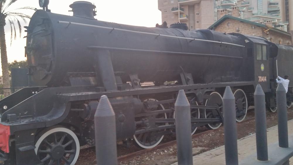 Locomotive at the Turkish train station