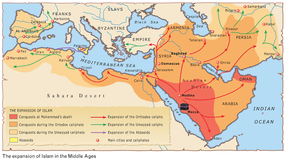 Stages of the Arab/Moslem Conquest