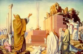Zerubbabel rebuilding the Temple