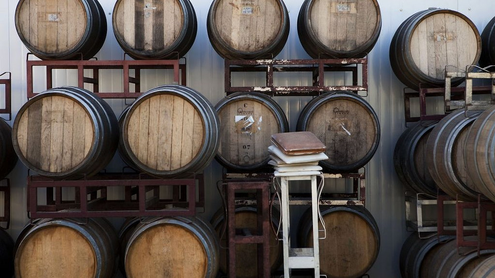 Wine Barrels in an Israeli winery