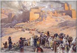 The exile of the Jews following the destruction on the Second Temple