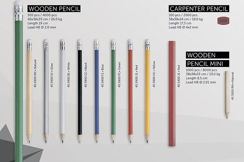 Деревянные карандаши разных цветов