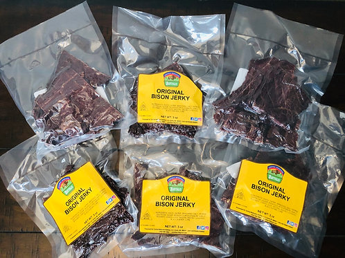 3-BISON JERKY PACKAGES