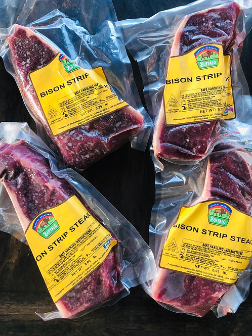 2 (11.5-12.5 oz) BISON NEW YORK STRIP STEAKS