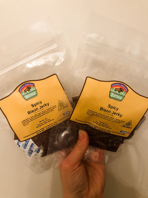 BISON SPICY JERKY PACKAGES (3)