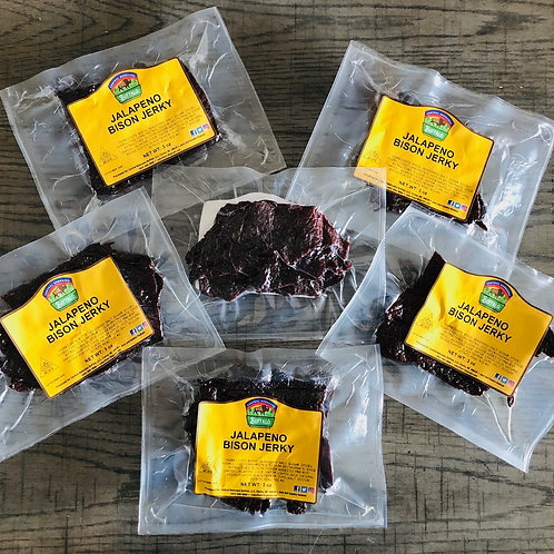 3 BISON JALAPENO JERKY PACKAGES