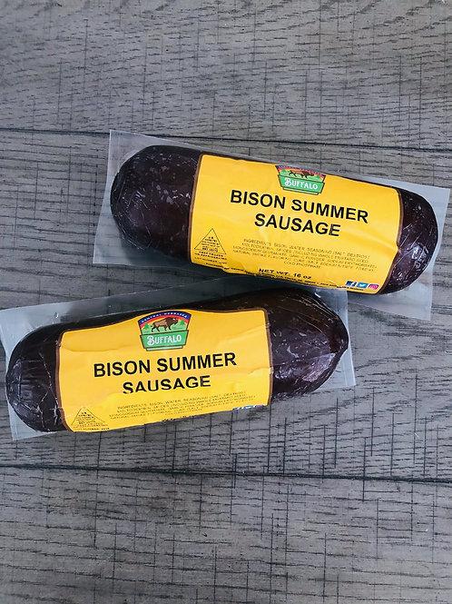 2 (1 LB) BISON SUMMER SAUSAGE