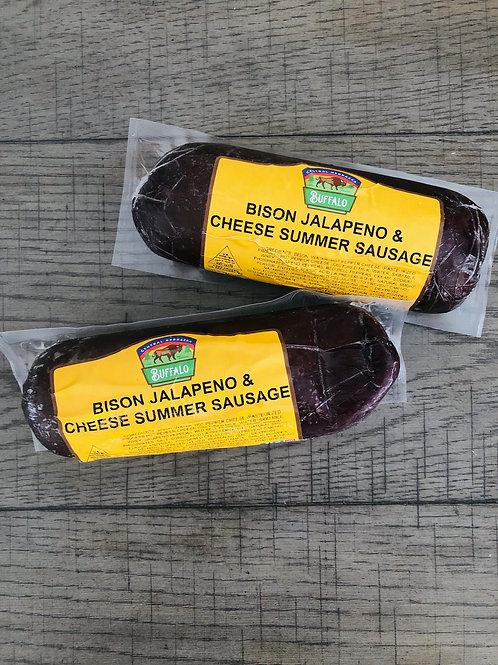 2 (1 LB) BISON JALAPENO/CHEESE SUMMER SAUSAGE