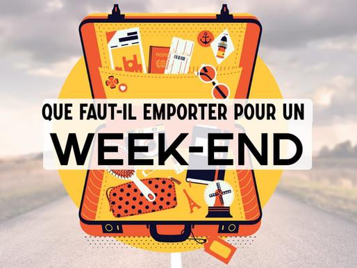 Que mettre dans sa valise pour un week-end ?