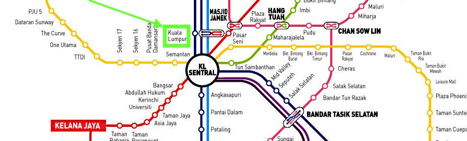 Gare Kuala Lumpur station plan