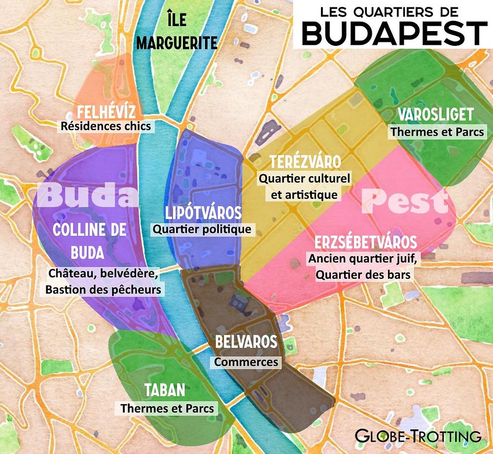 Plan quartiers de Budapest