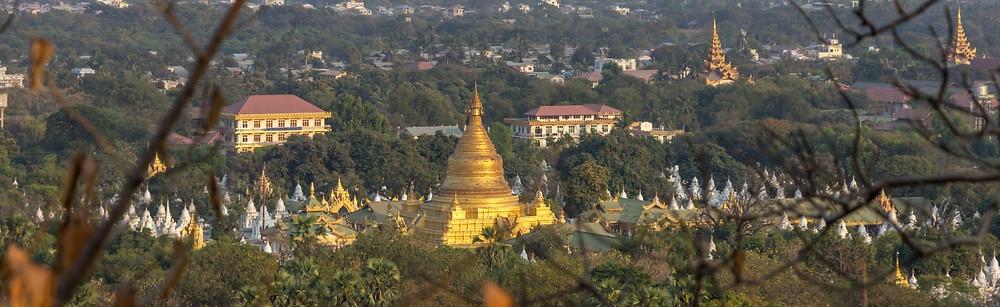 vue depuis colines de Mandalay