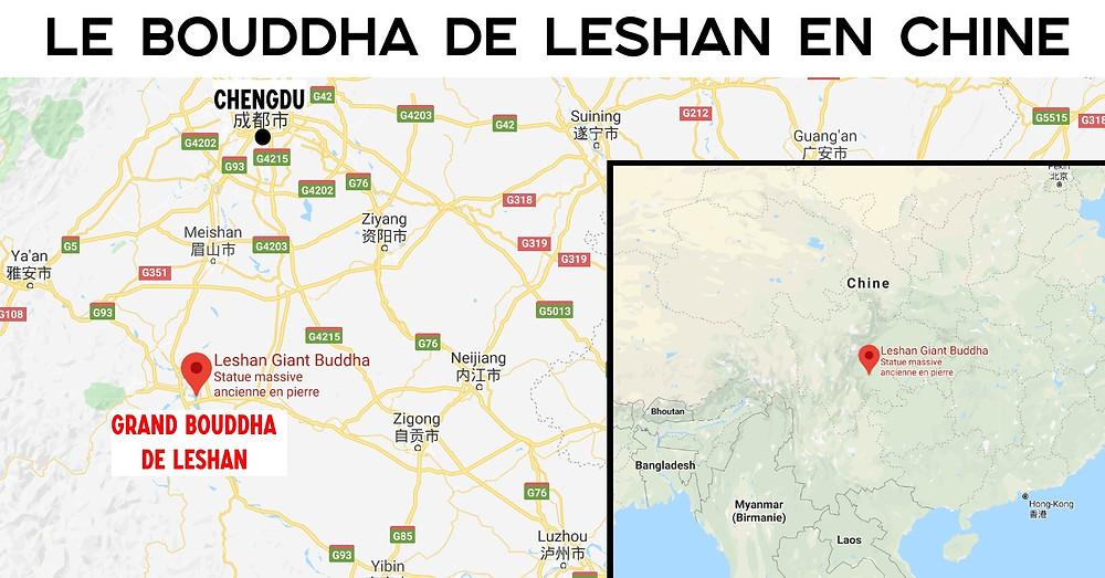 Carte Chengdu Grand Buddha de Leshan