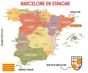 Carte Barcelone catalogne