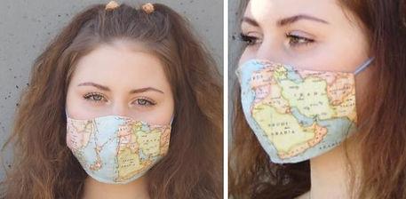 masque de voayge carte du monde
