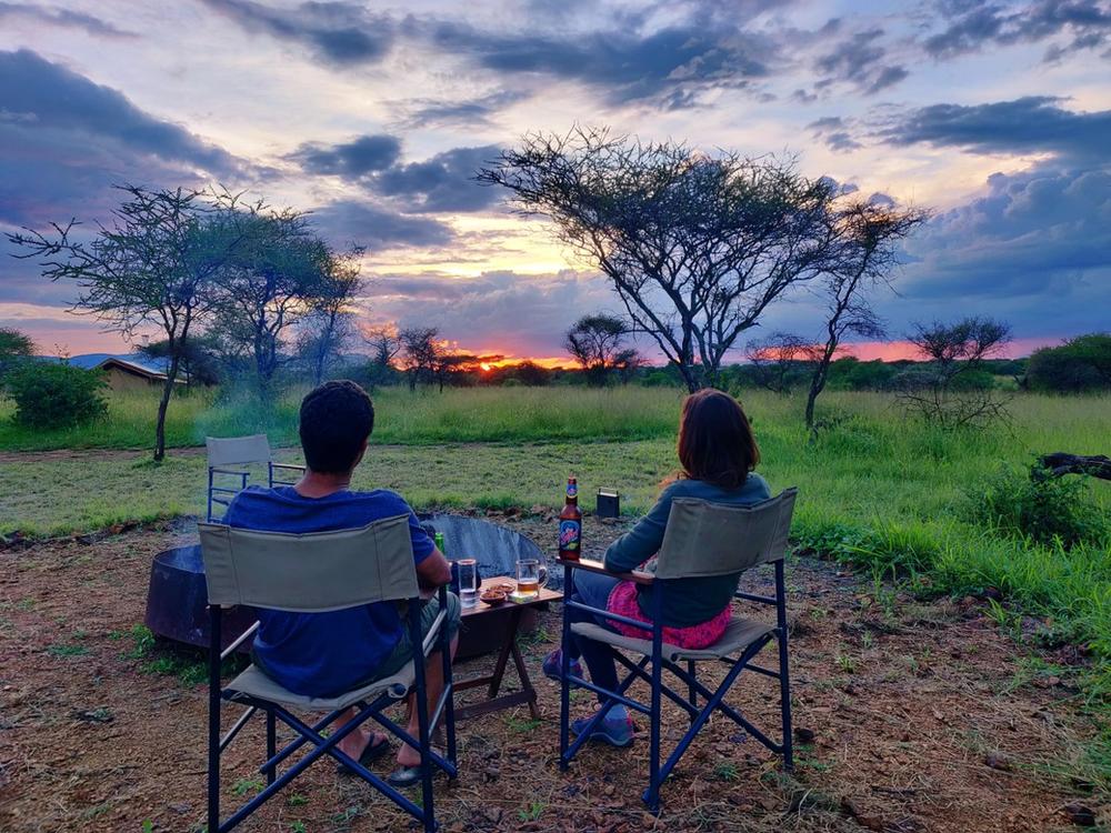 Coucher de soleil Serengeti Tanzanie