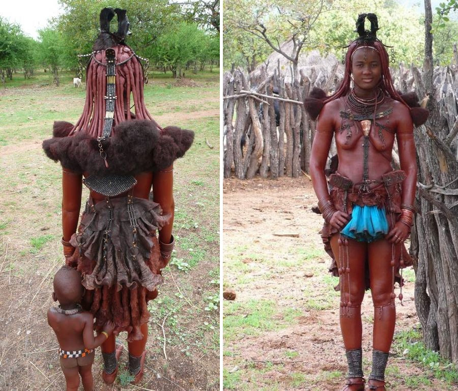 Coiffure femme himba