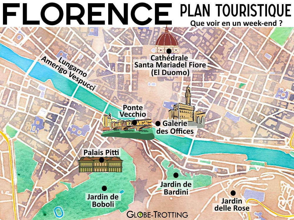 Plan touristique Florence Italie