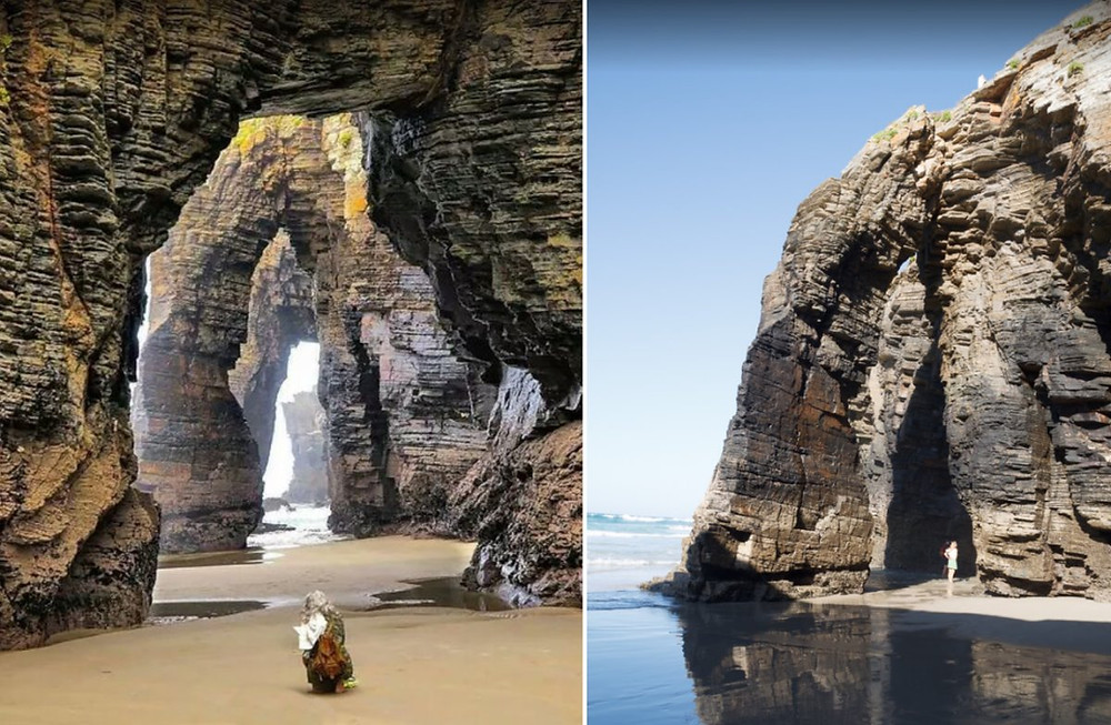 plage des Cathédrales en Espagne