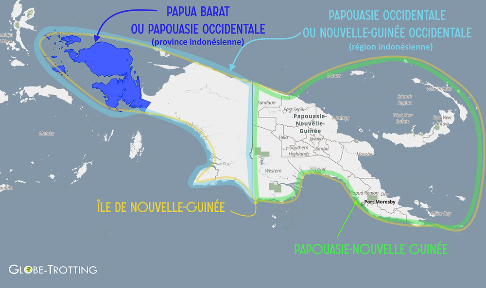 Baliem carte papouasie occidentale