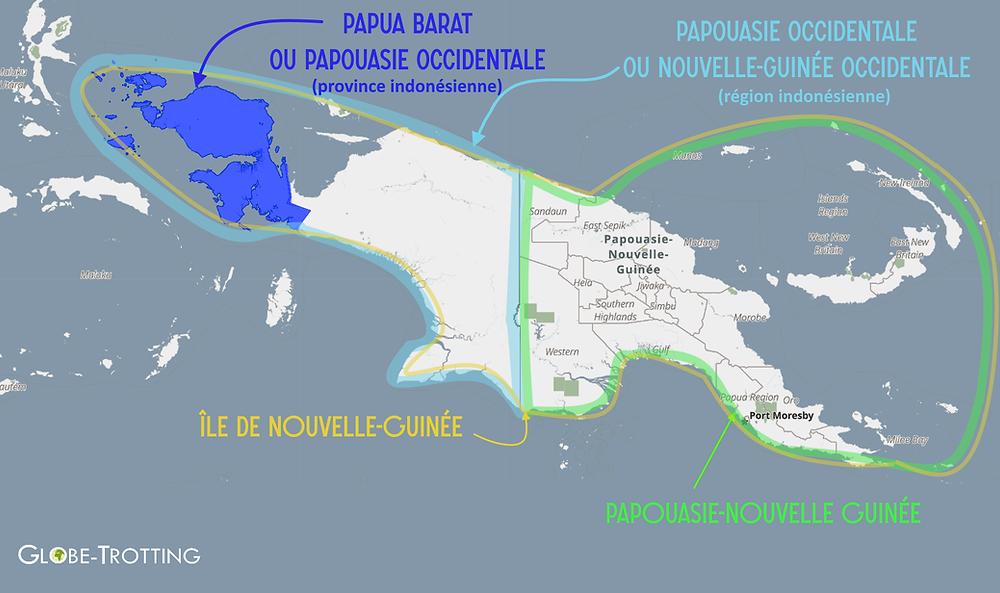 Carte Papouasie Raja Ampat