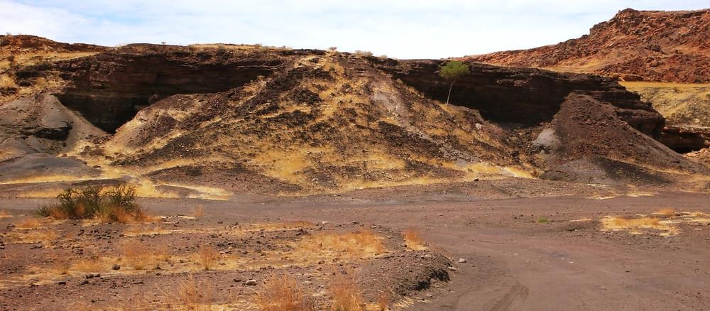 montagne brulée namibie