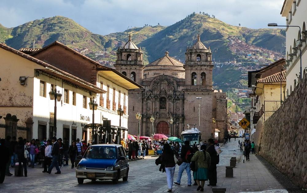en route vers la place des Armes Cuzco