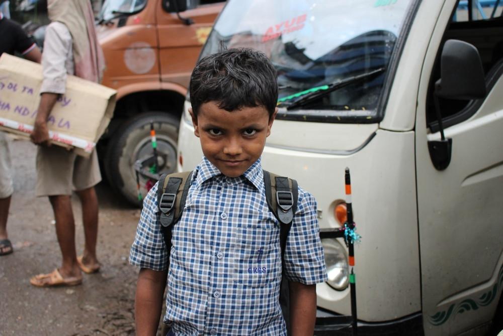 écolier kolkata Inde