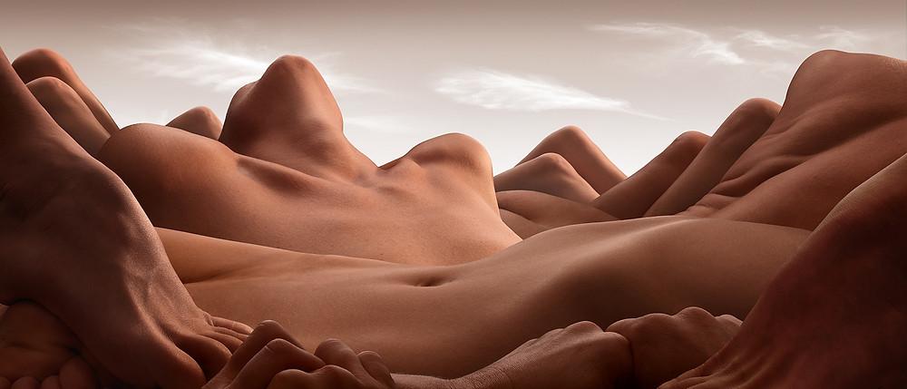 La vallée de la femme couchée Carl Warner