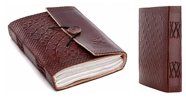 carnet de voyage en cuir
