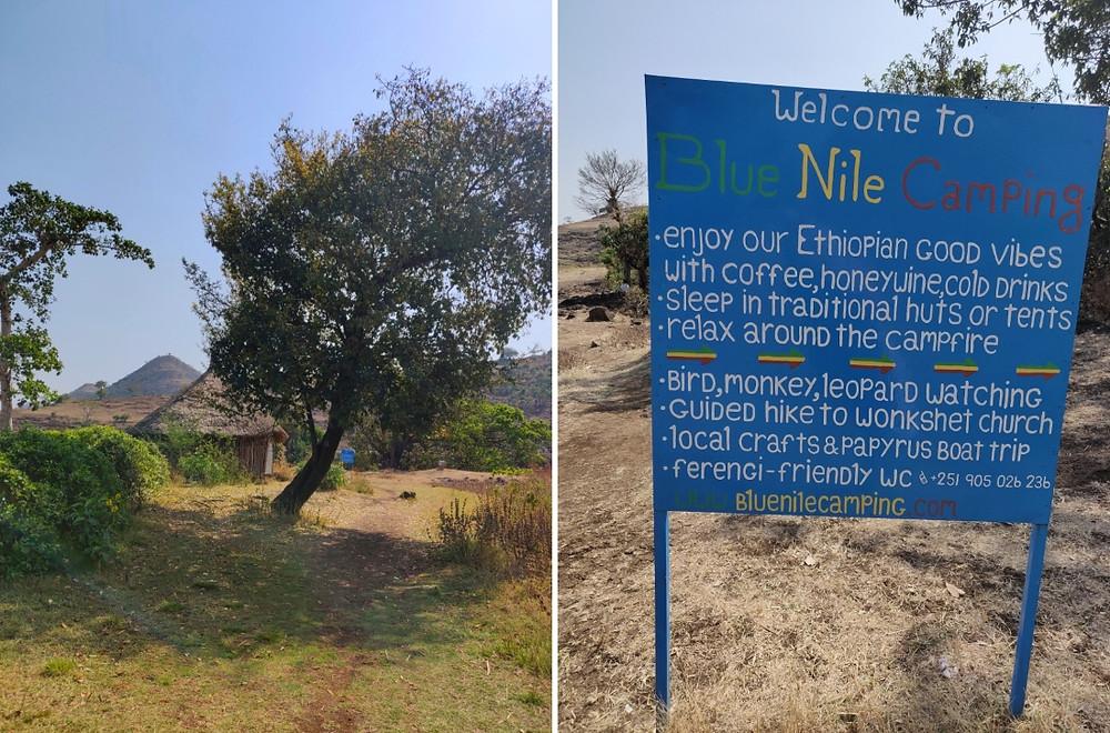 camping chutes du Nil Bleu en Ethiopie
