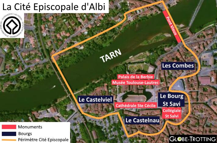 Plan cité épiscopale Albi