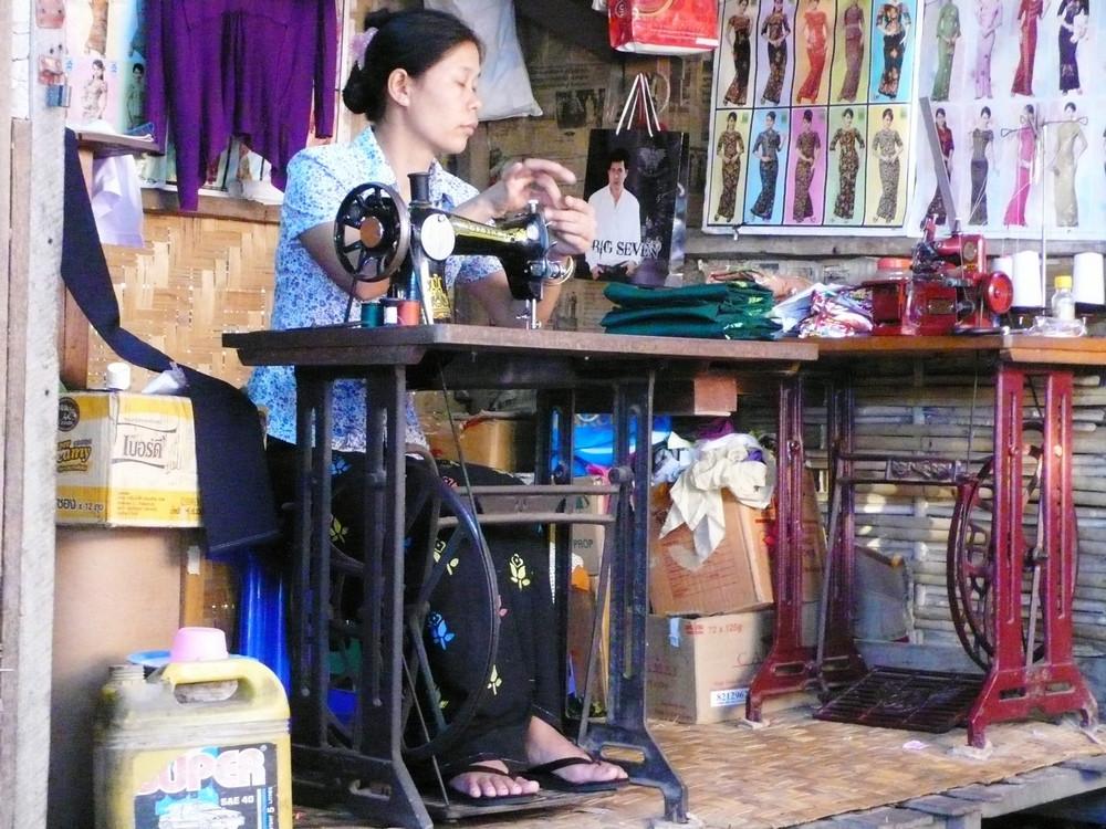 nyaung shwe birmanie couturière