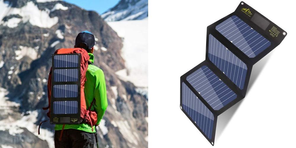 panneau solaire voyage sac à dos