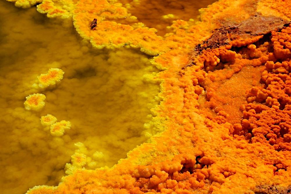 volcan dallol ethiopie gros plan