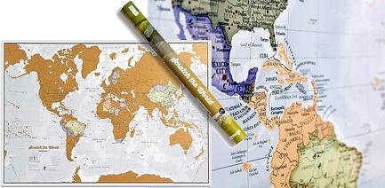 Carte du monde couple