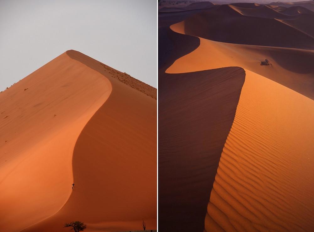 dunes de Namibie de près