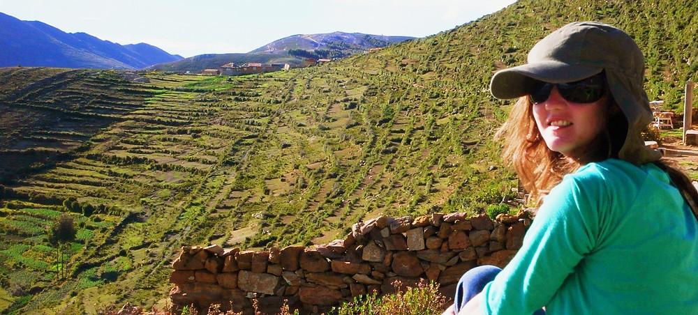 Ile du soleil Bolivie backpacker