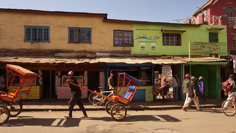 pousse pousse Antsirabé à Madagascar